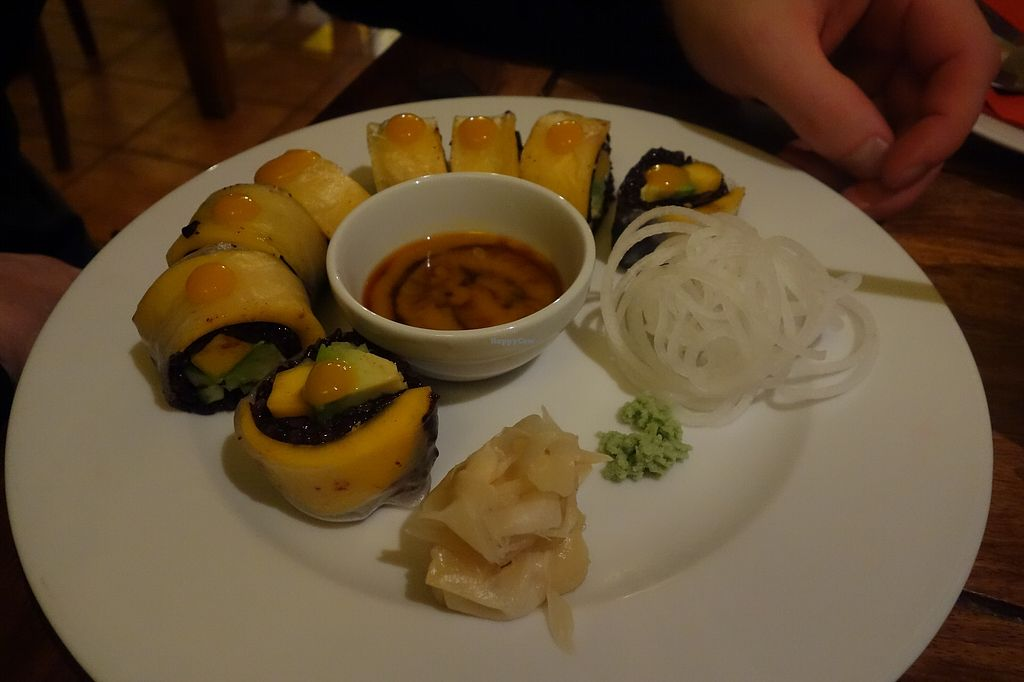 """Photo of Zen House  by <a href=""""/members/profile/Thewisevegan"""">Thewisevegan</a> <br/>Sushi <br/> April 5, 2018  - <a href='/contact/abuse/image/70605/381272'>Report</a>"""
