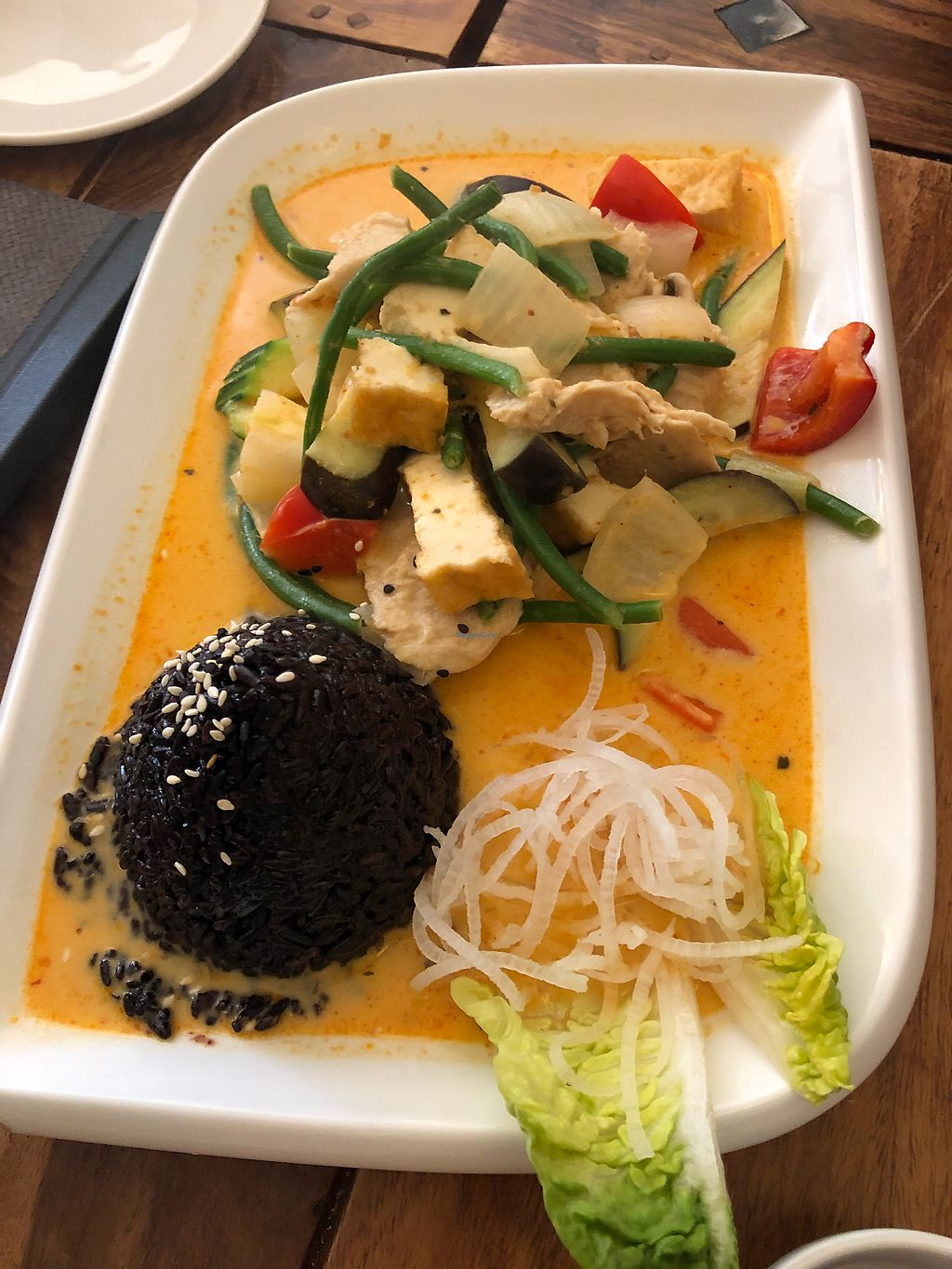 """Photo of Zen House  by <a href=""""/members/profile/GergelyZelena"""">GergelyZelena</a> <br/>Black-rice chicken - imitat curry <br/> April 6, 2018  - <a href='/contact/abuse/image/70605/381545'>Report</a>"""