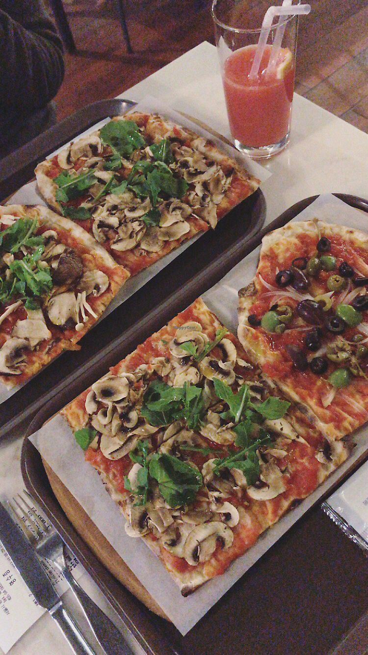 """Photo of Trevia - Pizza di Roma - 트레비아  by <a href=""""/members/profile/MiriamRabi"""">MiriamRabi</a> <br/>Mushroom and mixed olives  <br/> November 18, 2017  - <a href='/contact/abuse/image/70617/326719'>Report</a>"""