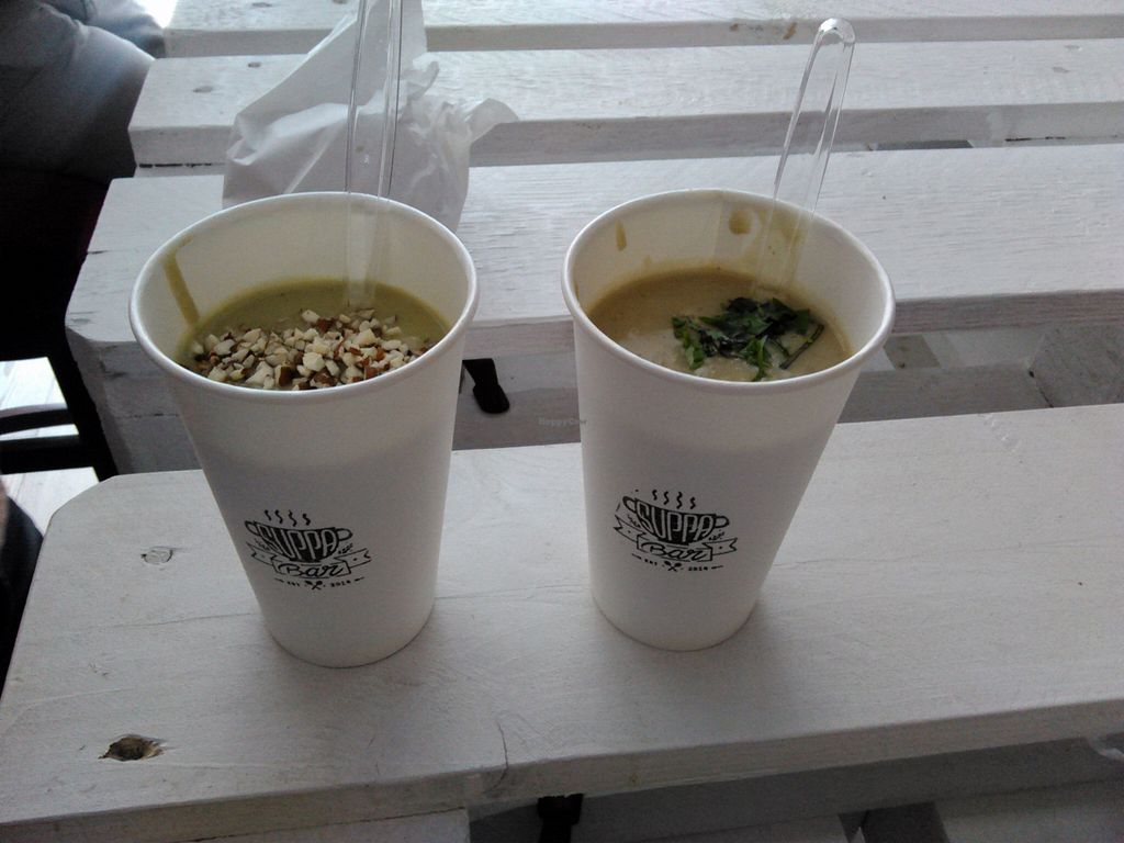 """Photo of Suppa Bar  by <a href=""""/members/profile/alexandra_vegan"""">alexandra_vegan</a> <br/>cream soups <br/> April 4, 2016  - <a href='/contact/abuse/image/70631/142729'>Report</a>"""