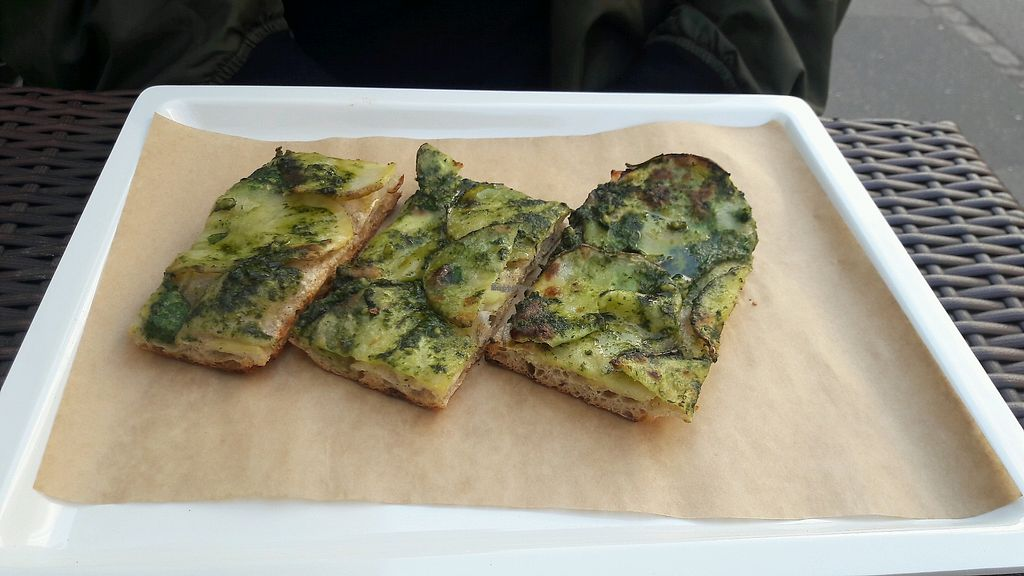 """Photo of MADENITALY  by <a href=""""/members/profile/piffelina"""">piffelina</a> <br/>Vegan pesto potato slice <br/> April 20, 2018  - <a href='/contact/abuse/image/70650/388688'>Report</a>"""