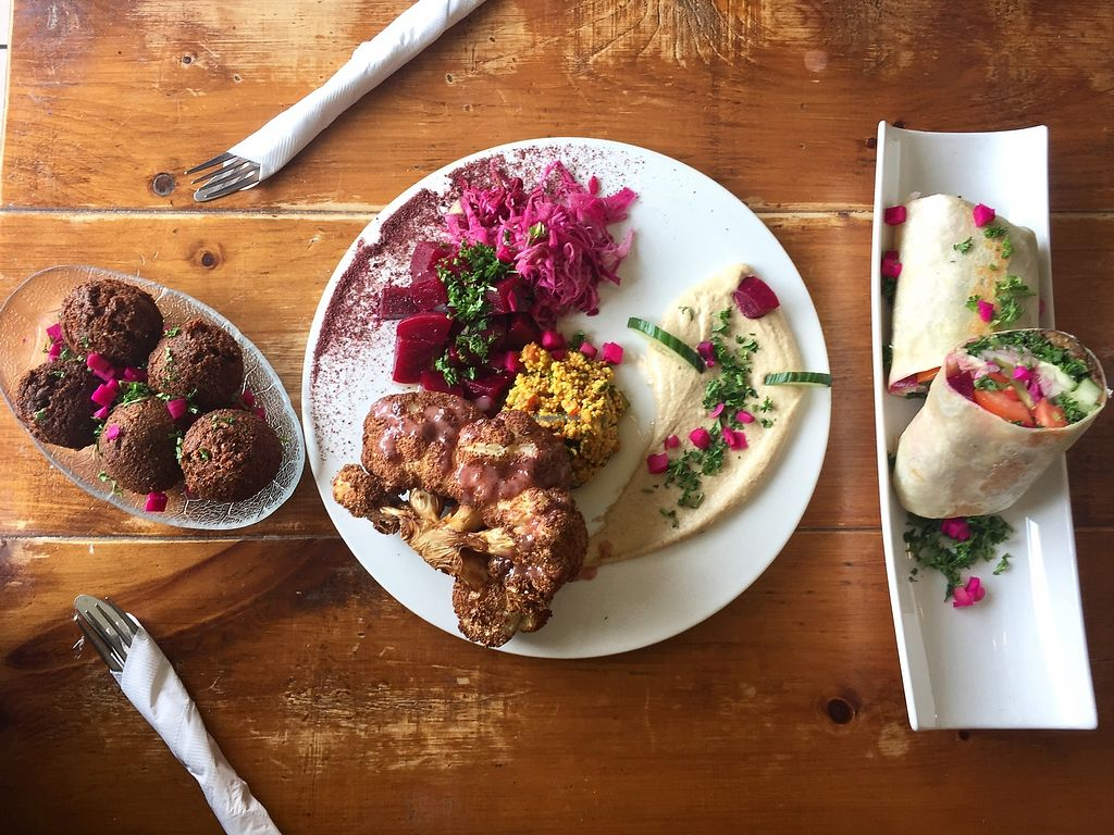 """Photo of Maro's  by <a href=""""/members/profile/Janeymaceats"""">Janeymaceats</a> <br/>Colourful and vibrant food. Everything is well labelled and staff is knowledgeable and accommodating.  Beauty and the Beast dish was delicious and fun to share with a side of falafels.  <br/> April 1, 2018  - <a href='/contact/abuse/image/70658/379432'>Report</a>"""