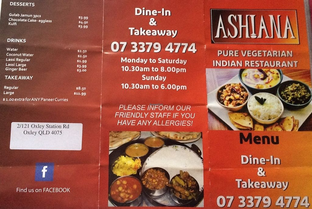 "Photo of CLOSED: Ashiana Pure Vegetarian Indian Restaurant  by <a href=""/members/profile/chelseyreid"">chelseyreid</a> <br/>leaflet <br/> March 10, 2016  - <a href='/contact/abuse/image/70667/252372'>Report</a>"