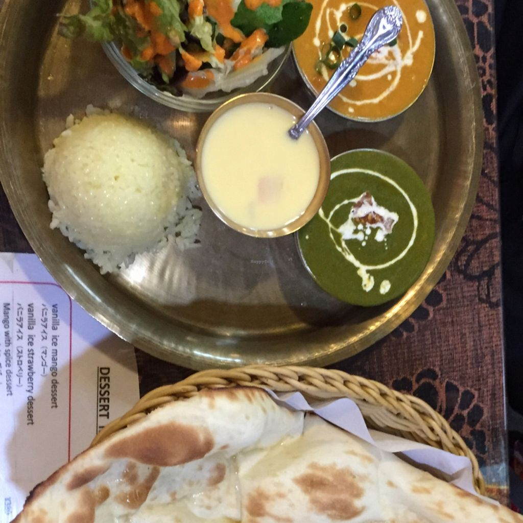 """Photo of Namaste  by <a href=""""/members/profile/StarKodama"""">StarKodama</a> <br/>Vegetarian dinner set <br/> March 12, 2016  - <a href='/contact/abuse/image/70674/139769'>Report</a>"""