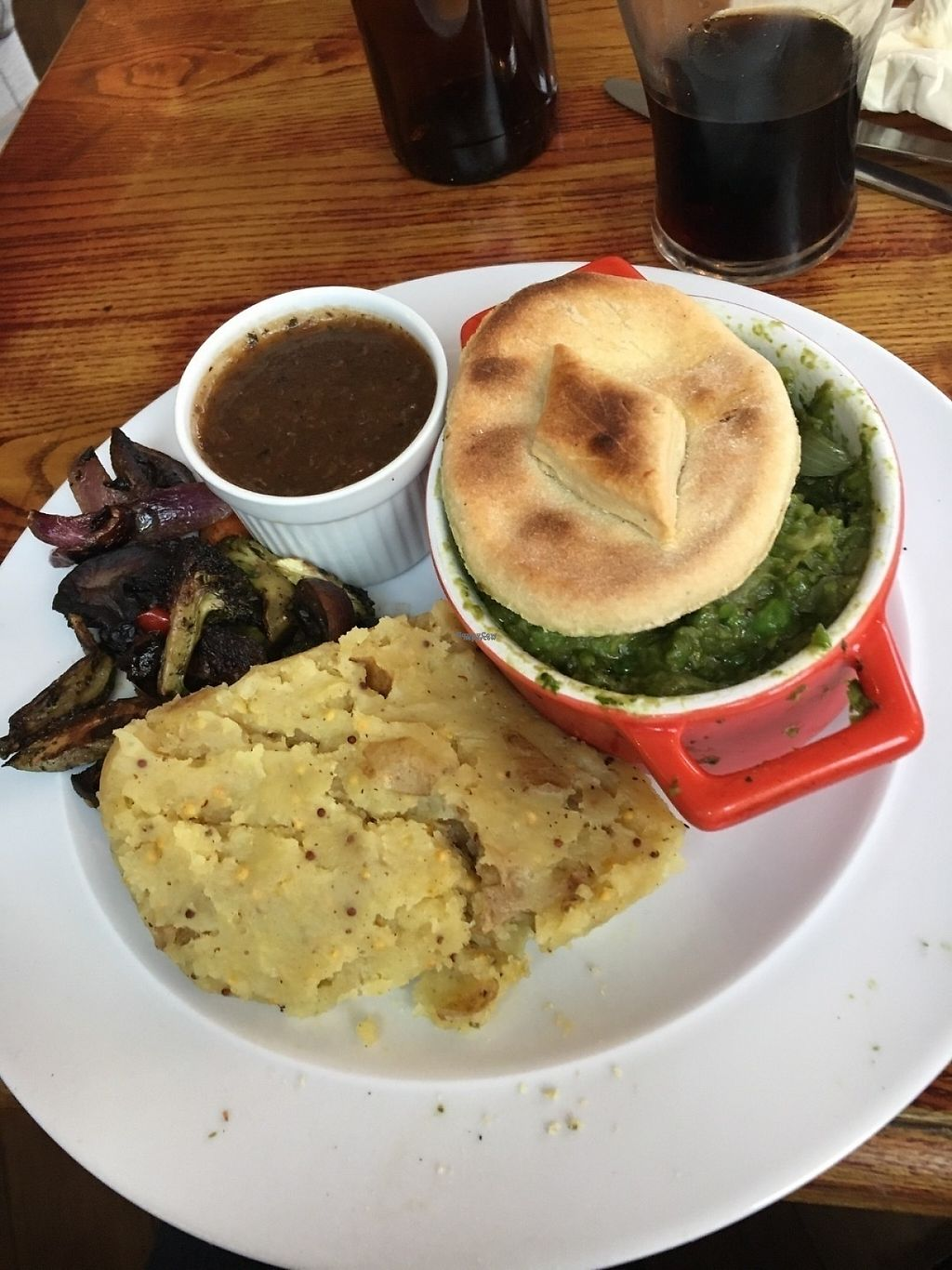 "Photo of The Peacock  by <a href=""/members/profile/Tim_nottingham"">Tim_nottingham</a> <br/>Minted pea and onion pie.  <br/> January 8, 2017  - <a href='/contact/abuse/image/70771/209675'>Report</a>"