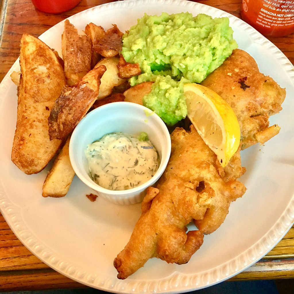 "Photo of The Peacock  by <a href=""/members/profile/Libra77"">Libra77</a> <br/>Fish and chips (Tofu) <br/> February 4, 2017  - <a href='/contact/abuse/image/70771/222448'>Report</a>"