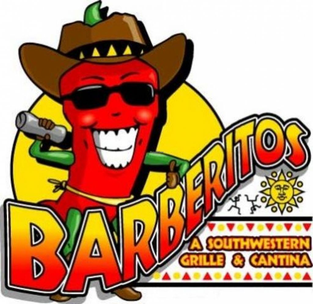 "Photo of Barberitos   by <a href=""/members/profile/veganadvocate"">veganadvocate</a> <br/>Barberitos Logo <br/> March 12, 2016  - <a href='/contact/abuse/image/70780/139758'>Report</a>"