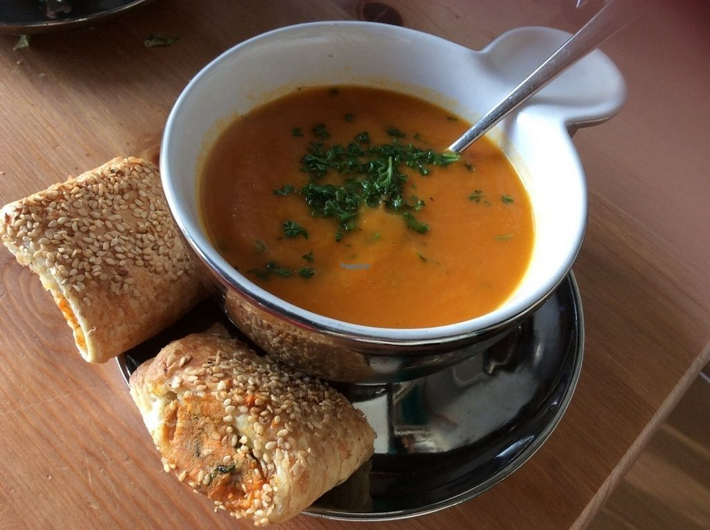"""Photo of Het Zaanse Bakkertje  by <a href=""""/members/profile/happyowl"""">happyowl</a> <br/>Sweet potato puff pastry, eaten ar home with some soup <br/> August 15, 2016  - <a href='/contact/abuse/image/70817/168976'>Report</a>"""