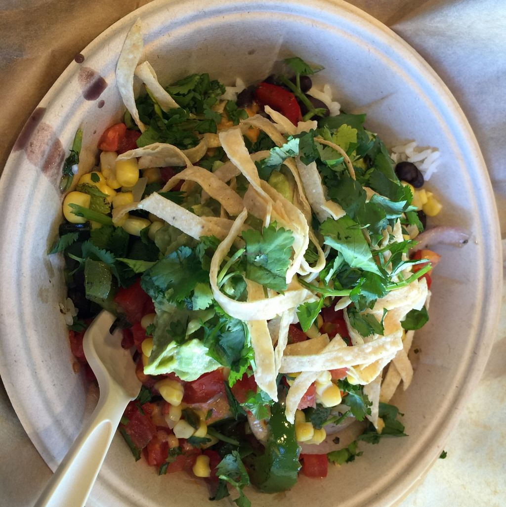 """Photo of Qdoba   by <a href=""""/members/profile/rhondalou117"""">rhondalou117</a> <br/>veggie bowl <br/> March 16, 2016  - <a href='/contact/abuse/image/70819/140172'>Report</a>"""