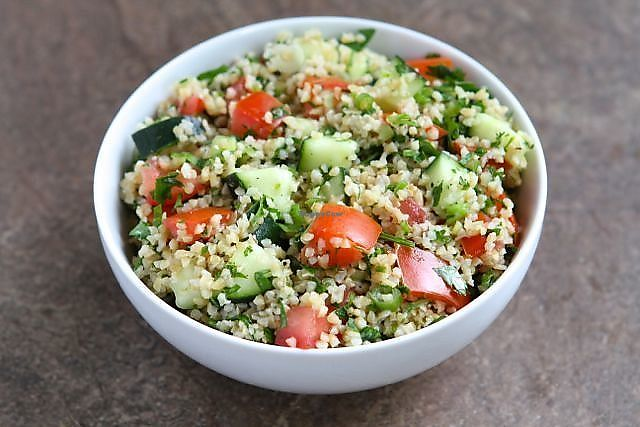 "Photo of Hummus Elijah  by <a href=""/members/profile/Abumaor"">Abumaor</a> <br/>Tabbouleh Salad (Vegan) <br/> November 1, 2017  - <a href='/contact/abuse/image/70821/320780'>Report</a>"