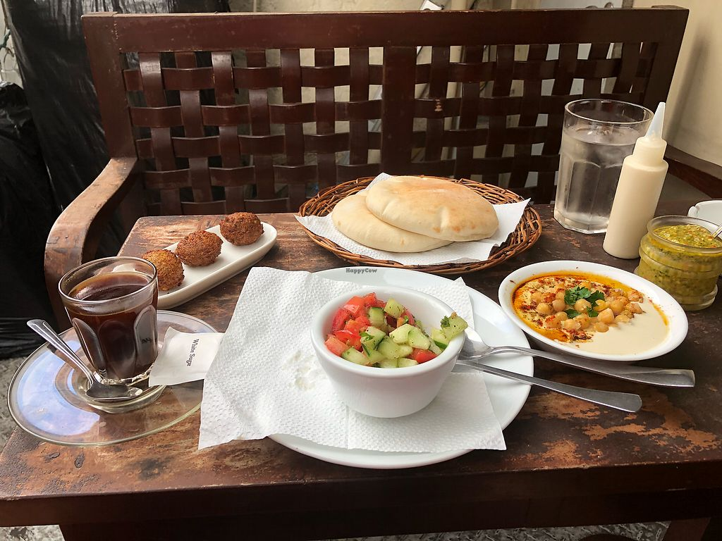"Photo of Hummus Elijah  by <a href=""/members/profile/scotteg"">scotteg</a> <br/>Hummus, salad, falafel combo, with Turkish coffee ? <br/> January 22, 2018  - <a href='/contact/abuse/image/70821/349642'>Report</a>"