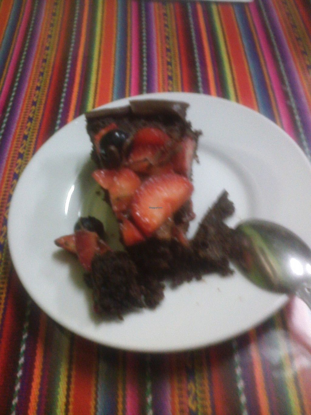 "Photo of Sinfonia Vegana  by <a href=""/members/profile/Patapompon"">Patapompon</a> <br/>Chocolate pie from the Sinfonía Vegana (restaurant in Lima) <br/> March 14, 2016  - <a href='/contact/abuse/image/70859/140016'>Report</a>"
