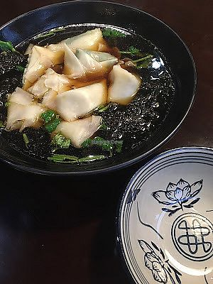 """Photo of SUHU - Vegetarian Tiger - Fulllink Plaza  by <a href=""""/members/profile/jojoinbrighton"""">jojoinbrighton</a> <br/>Wonton soup <br/> August 5, 2017  - <a href='/contact/abuse/image/70866/289062'>Report</a>"""