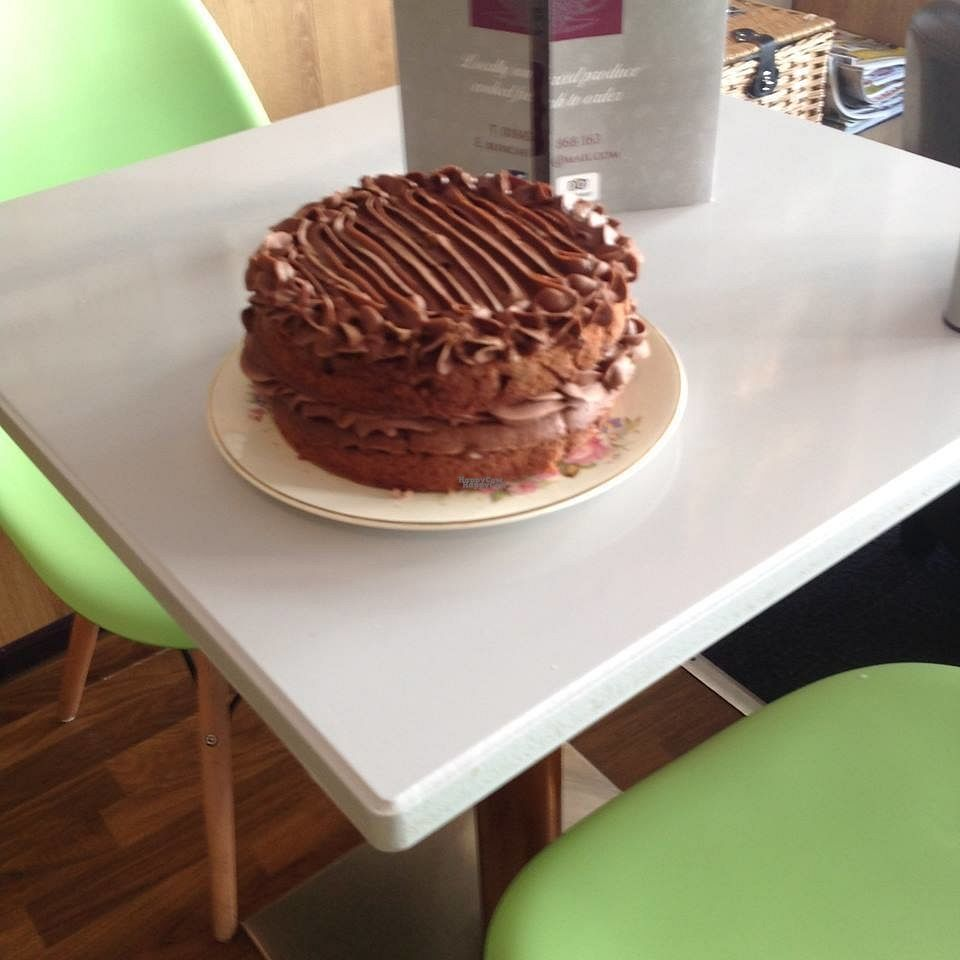 """Photo of Bliss Cafe & Patisserie  by <a href=""""/members/profile/Meaks"""">Meaks</a> <br/>Vegan Chocolate Cake <br/> October 7, 2016  - <a href='/contact/abuse/image/70891/180438'>Report</a>"""