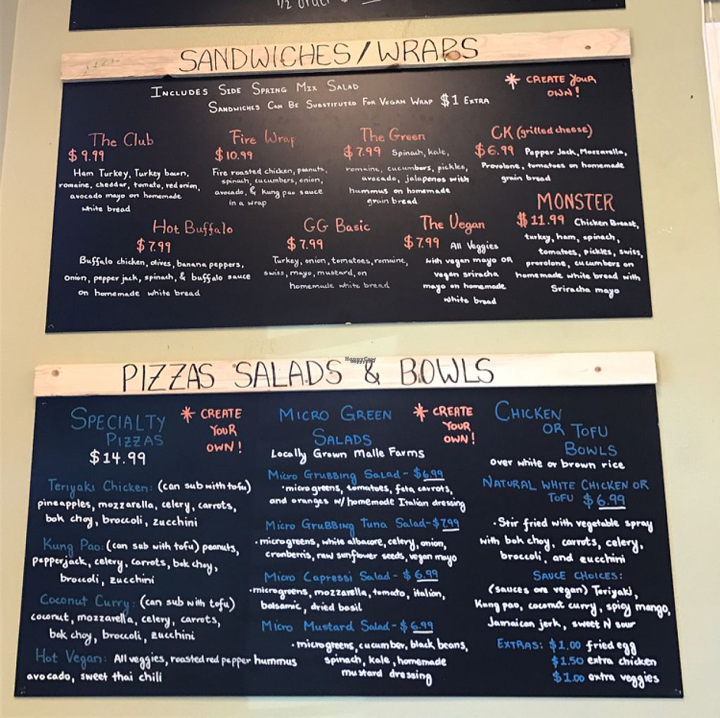"""Photo of Great Grubbing Cafe  by <a href=""""/members/profile/Remerson13"""">Remerson13</a> <br/>many vegan options <br/> March 24, 2017  - <a href='/contact/abuse/image/70893/240317'>Report</a>"""