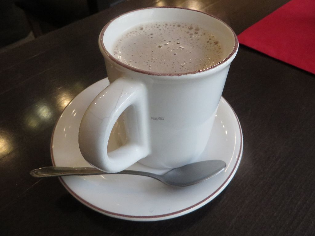 "Photo of CLOSED: VeGonas  by <a href=""/members/profile/VegiAnna"">VegiAnna</a> <br/>hot chocolate with rice milk (without cream) (vegan) <br/> February 28, 2017  - <a href='/contact/abuse/image/70924/231304'>Report</a>"