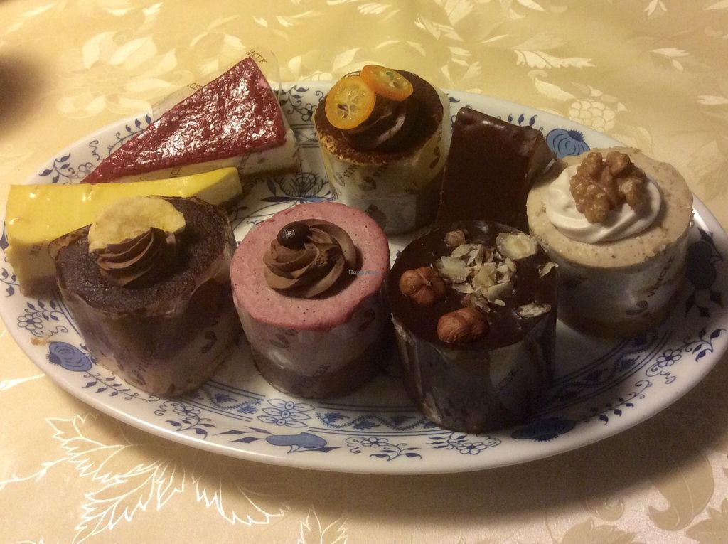 """Photo of Vis a Vis Vincek Cake and Ice Cream  by <a href=""""/members/profile/jon%20active"""">jon active</a> <br/>The sugar free vegan cakes selection, March 2016 <br/> March 17, 2016  - <a href='/contact/abuse/image/70926/140291'>Report</a>"""