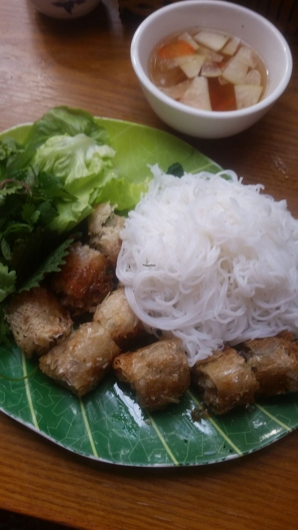 "Photo of Noodle & Roll  by <a href=""/members/profile/Without_Cruelty_Blog"">Without_Cruelty_Blog</a> <br/>Vermicelli and spring rolls <br/> December 9, 2016  - <a href='/contact/abuse/image/70933/198604'>Report</a>"