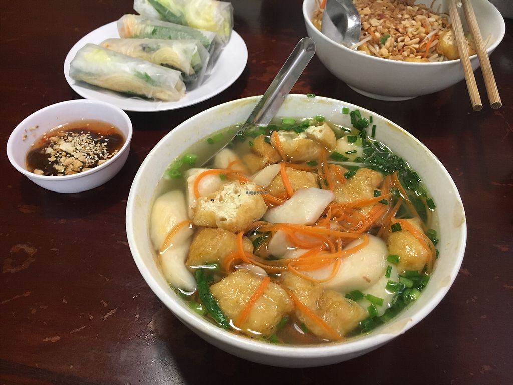 "Photo of Noodle & Roll  by <a href=""/members/profile/sanluvegan"">sanluvegan</a> <br/>Pho with tofu, vermicelli noodles and fresh spring rolls <br/> January 10, 2018  - <a href='/contact/abuse/image/70933/345037'>Report</a>"