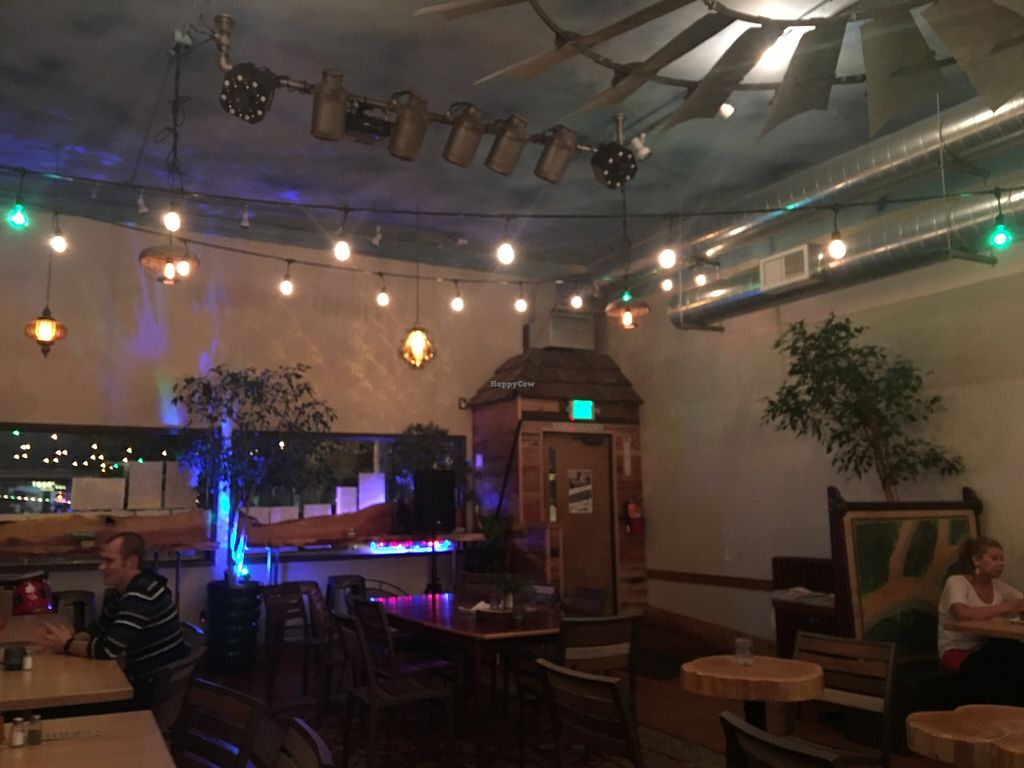 """Photo of Taproot Lounge & Cafe  by <a href=""""/members/profile/Arthousebill"""">Arthousebill</a> <br/>Stage and seating <br/> April 15, 2016  - <a href='/contact/abuse/image/70936/144787'>Report</a>"""