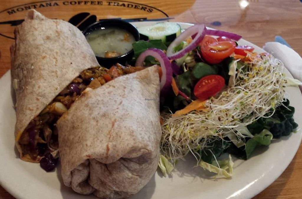 """Photo of Montana Coffee Traders  by <a href=""""/members/profile/J%20and%20J"""">J and J</a> <br/>Tofu twister with a side salad <br/> March 29, 2016  - <a href='/contact/abuse/image/70939/207376'>Report</a>"""