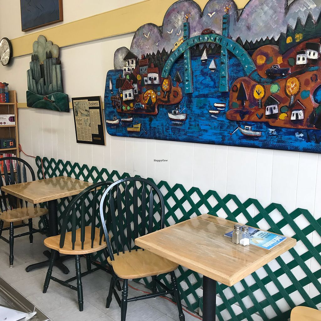 """Photo of John Edwards Whole Foods & Wine Cellar Art Gallery  by <a href=""""/members/profile/Sarah%20P"""">Sarah P</a> <br/>Cafe seating <br/> April 18, 2018  - <a href='/contact/abuse/image/70961/387837'>Report</a>"""