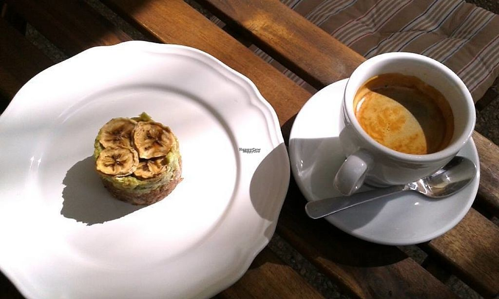 """Photo of BioCasa  by <a href=""""/members/profile/Minna"""">Minna</a> <br/>Organic coffee and raw cake <br/> November 25, 2016  - <a href='/contact/abuse/image/70970/194159'>Report</a>"""