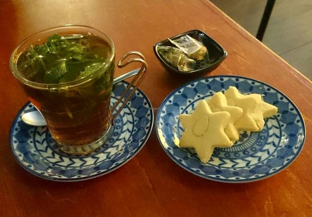 """Photo of Shamaim  by <a href=""""/members/profile/Gally"""">Gally</a> <br/>Mint tea and homemade almond shortbread cookies <br/> March 19, 2016  - <a href='/contact/abuse/image/70987/140647'>Report</a>"""
