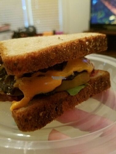 """Photo of Mason Dixon Bakery & Bistro  by <a href=""""/members/profile/NiaBrookeBurns"""">NiaBrookeBurns</a> <br/>vegan friendly BLT with portabella and Daiya   <br/> September 1, 2016  - <a href='/contact/abuse/image/71008/172901'>Report</a>"""
