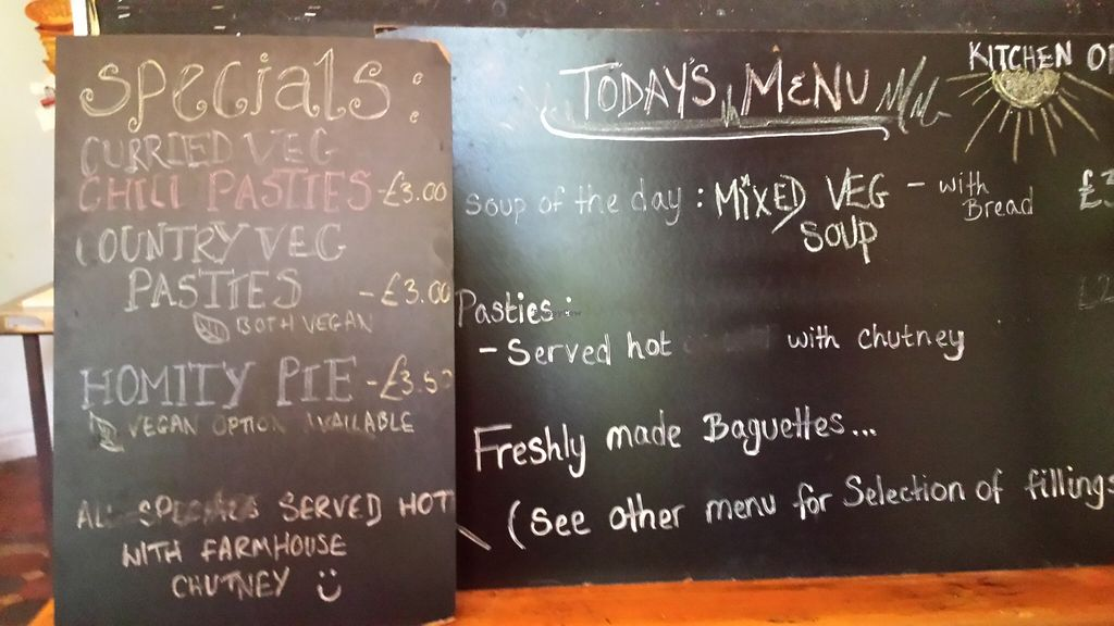 """Photo of St Ann's Well Cafe  by <a href=""""/members/profile/Good%20for%20Vegans"""">Good for Vegans</a> <br/>Menu <br/> September 6, 2015  - <a href='/contact/abuse/image/7100/116540'>Report</a>"""