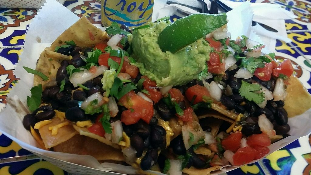 """Photo of Taco Shack  by <a href=""""/members/profile/maltinej"""">maltinej</a> <br/>vegetarian black bean loaded nachos with daiya cheese <br/> January 17, 2018  - <a href='/contact/abuse/image/71016/347732'>Report</a>"""