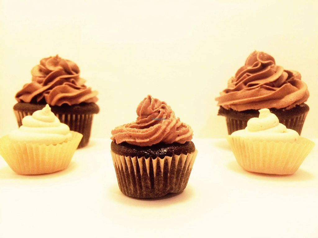 """Photo of Z's Sweet Treats  by <a href=""""/members/profile/zrihitchcock101"""">zrihitchcock101</a> <br/>Vegan chocolate and vanilla cupcakes from Z's Sweet Treats  <br/> March 19, 2016  - <a href='/contact/abuse/image/71042/140521'>Report</a>"""