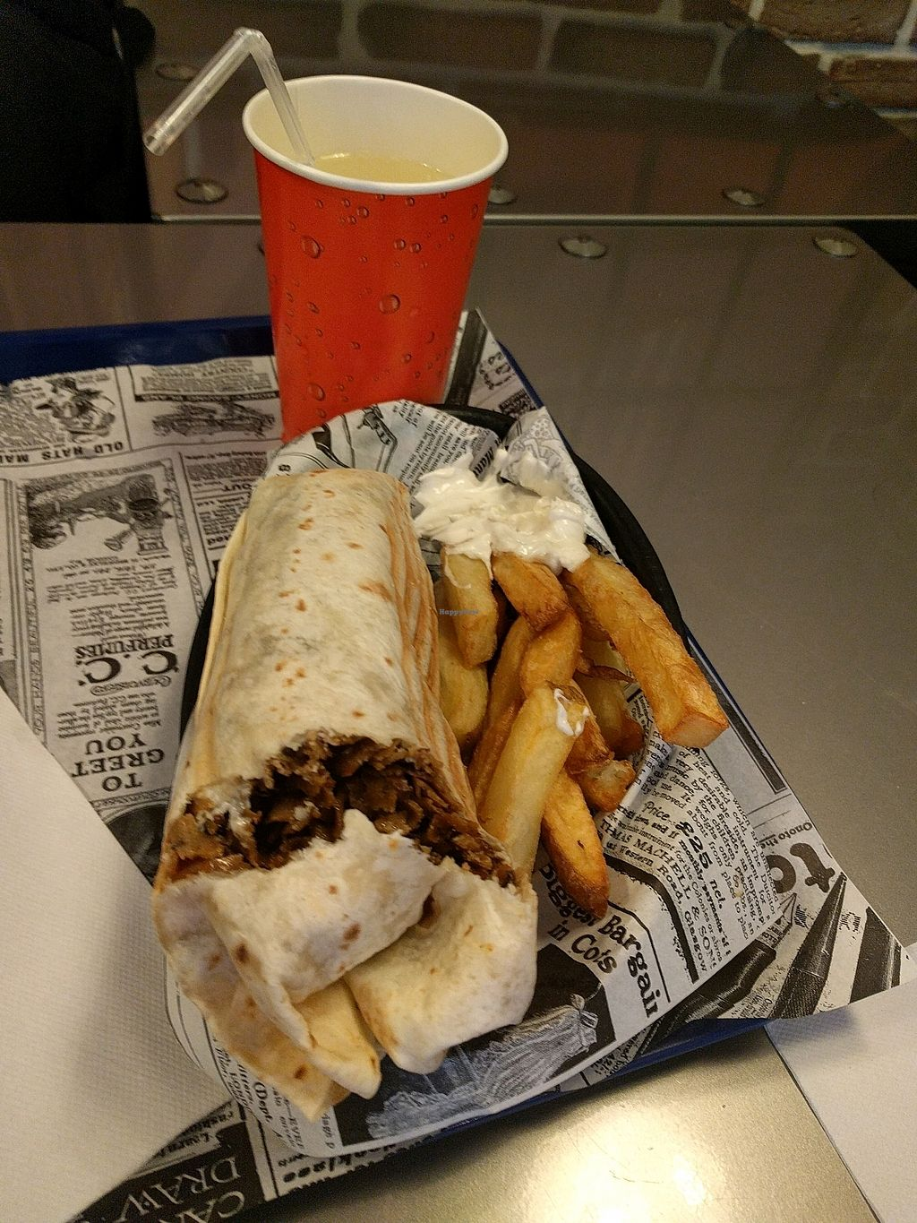 """Photo of Super Vegan  by <a href=""""/members/profile/SimonVandendyck"""">SimonVandendyck</a> <br/>Kebab + frites <br/> October 13, 2017  - <a href='/contact/abuse/image/71044/314865'>Report</a>"""