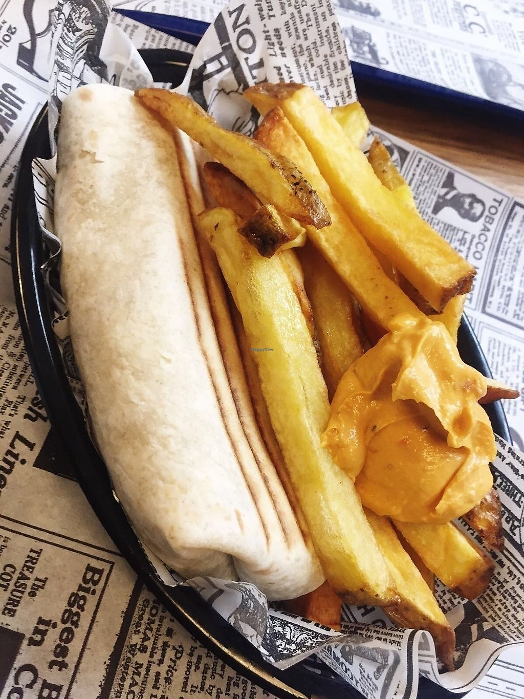 """Photo of Super Vegan  by <a href=""""/members/profile/TARAMCDONALD"""">TARAMCDONALD</a> <br/>Burrito and chips <br/> December 28, 2017  - <a href='/contact/abuse/image/71044/340120'>Report</a>"""
