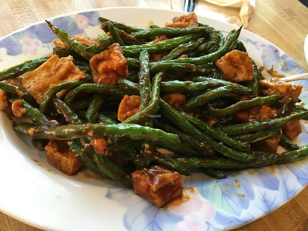"""Photo of China Garden  by <a href=""""/members/profile/sophiefrenchfry"""">sophiefrenchfry</a> <br/>Green beans with fried tofu <br/> March 19, 2017  - <a href='/contact/abuse/image/71052/238316'>Report</a>"""