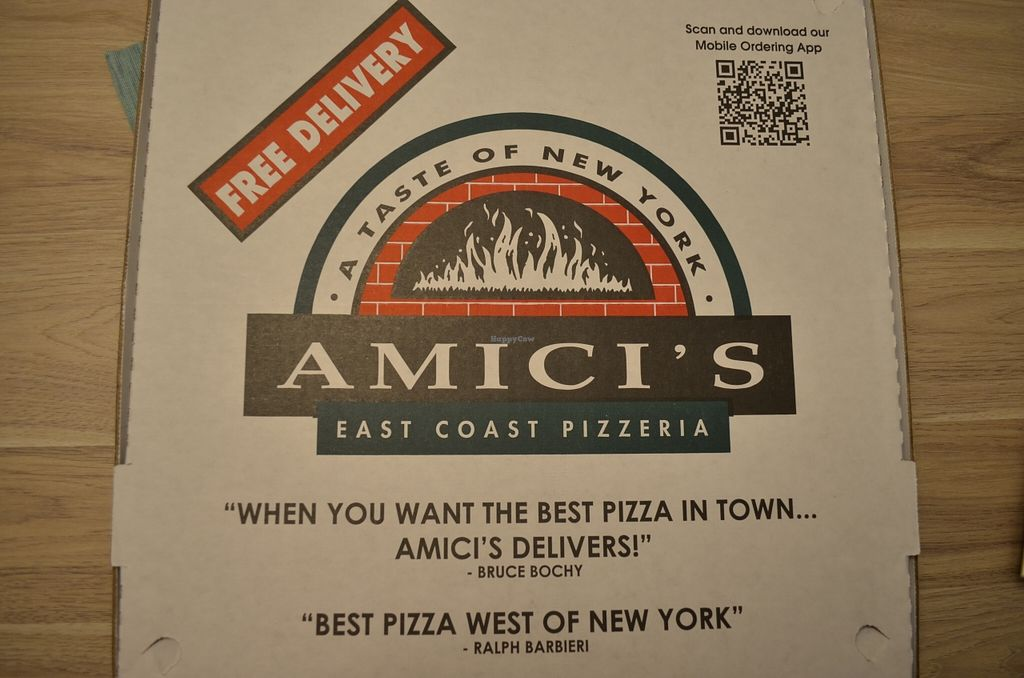 """Photo of Amici's East Coast Pizzeria  by <a href=""""/members/profile/alexandra_vegan"""">alexandra_vegan</a> <br/>large pizza <br/> March 19, 2016  - <a href='/contact/abuse/image/71065/140574'>Report</a>"""