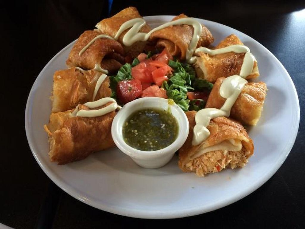"""Photo of Spotted Dog Restaurant and Bar  by <a href=""""/members/profile/tauberl"""">tauberl</a> <br/>vegan flautas- amazing! <br/> June 8, 2014  - <a href='/contact/abuse/image/7106/71673'>Report</a>"""