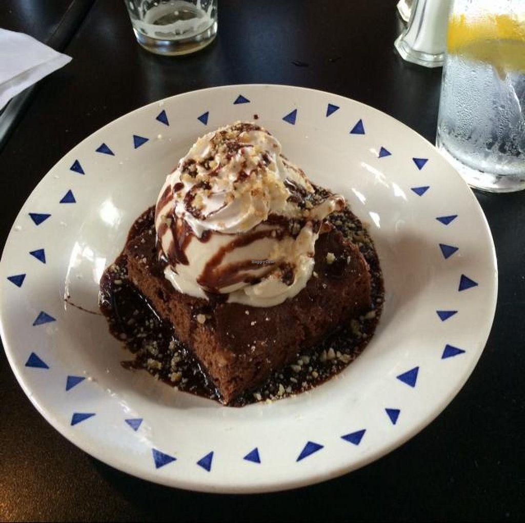 """Photo of Spotted Dog Restaurant and Bar  by <a href=""""/members/profile/tauberl"""">tauberl</a> <br/>vegan brownie sundae, mmm <br/> June 8, 2014  - <a href='/contact/abuse/image/7106/71675'>Report</a>"""