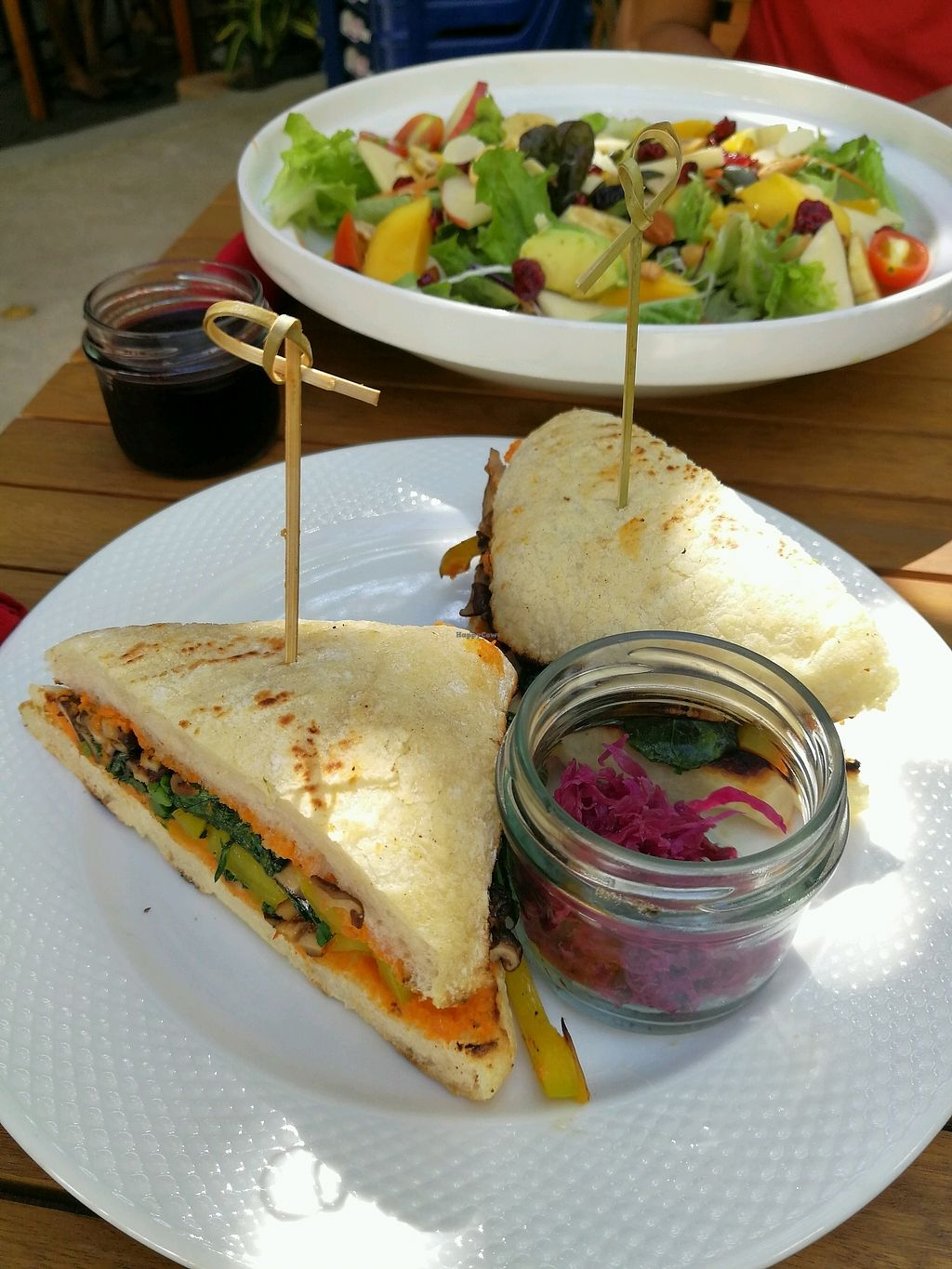 """Photo of Food4Thought  by <a href=""""/members/profile/RawChefYin"""">RawChefYin</a> <br/>mushroom and Kale sandwich  <br/> January 26, 2018  - <a href='/contact/abuse/image/71074/351143'>Report</a>"""