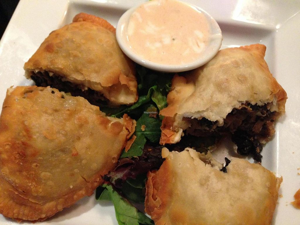 """Photo of The V Spot Cafe  by <a href=""""/members/profile/slo0go"""">slo0go</a> <br/>Philly Cheese Empanada <br/> May 31, 2014  - <a href='/contact/abuse/image/7108/71097'>Report</a>"""