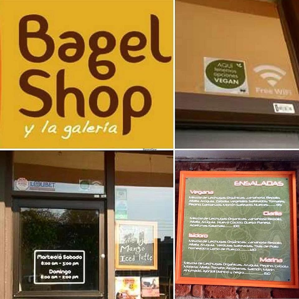 """Photo of The Bagel Shop  by <a href=""""/members/profile/YanethGris"""">YanethGris</a> <br/>Vegan friendly place with two vegan options, recommended by The humane League.  <br/> September 2, 2017  - <a href='/contact/abuse/image/71100/299842'>Report</a>"""