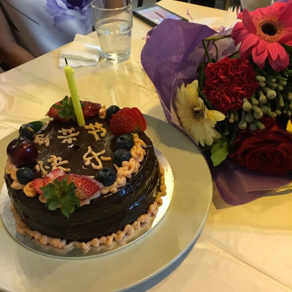 "Photo of CLOSED: Blue Bistro SG Cafe  by <a href=""/members/profile/Apple3132"">Apple3132</a> <br/>design your own cake programme - we have fun decorating the cake... pardon my handwriting as its the first time for me <br/> May 9, 2016  - <a href='/contact/abuse/image/71136/148116'>Report</a>"