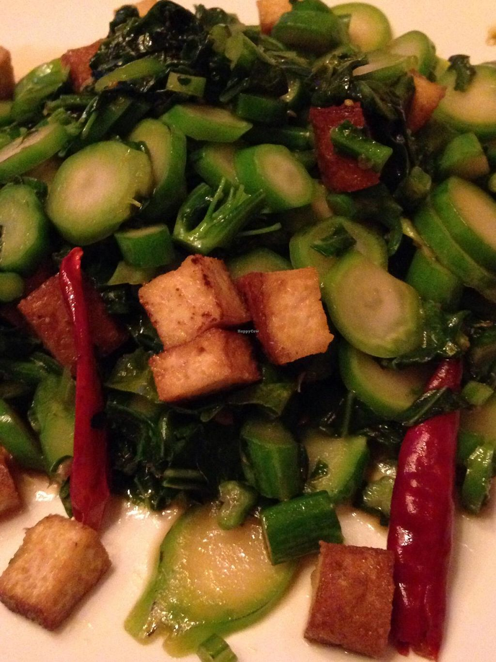 """Photo of Su Xing House  by <a href=""""/members/profile/cookiem"""">cookiem</a> <br/>Kale and dried tofu with dried red pepper  <br/> July 24, 2015  - <a href='/contact/abuse/image/7118/110762'>Report</a>"""