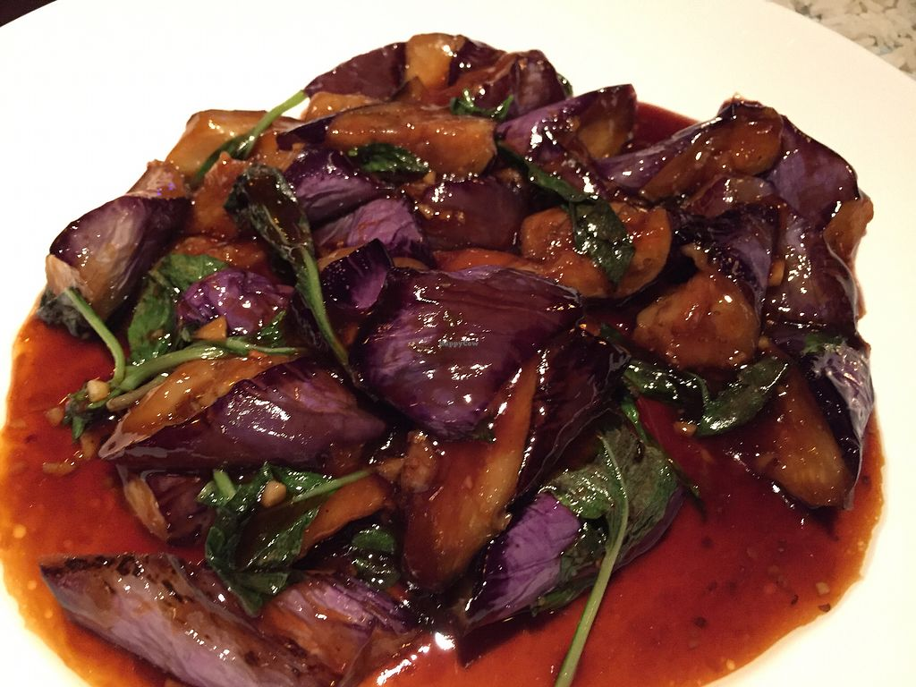 """Photo of Su Xing House  by <a href=""""/members/profile/SavoyTruffle"""">SavoyTruffle</a> <br/>Eggplant with basil <br/> January 23, 2018  - <a href='/contact/abuse/image/7118/349961'>Report</a>"""