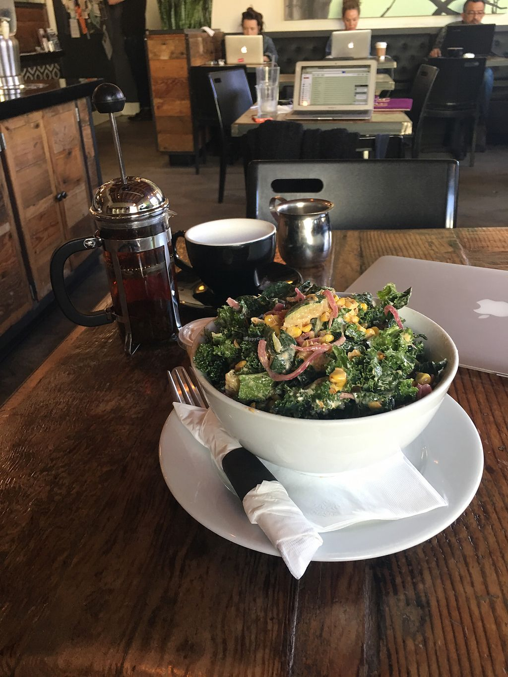 "Photo of Habitat Coffee Shop  by <a href=""/members/profile/chomp"">chomp</a> <br/>Really yummy corn salad  <br/> February 14, 2018  - <a href='/contact/abuse/image/71190/359015'>Report</a>"