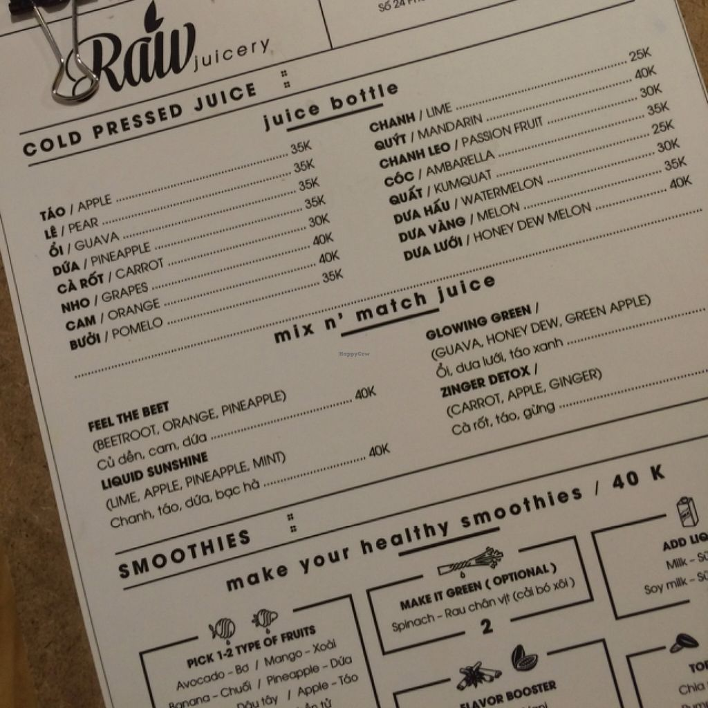"""Photo of CLOSED: Raw Juicery  by <a href=""""/members/profile/KevinEhrenberg"""">KevinEhrenberg</a> <br/>menu <br/> March 22, 2016  - <a href='/contact/abuse/image/71201/140922'>Report</a>"""