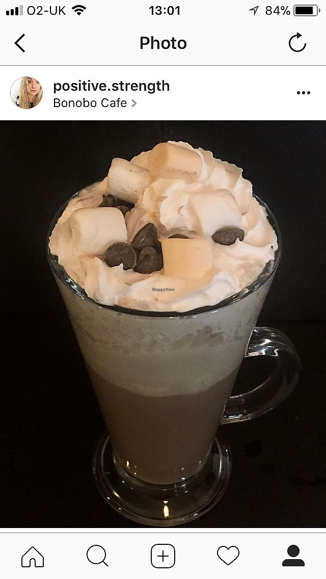 """Photo of Bonobo Cafe  by <a href=""""/members/profile/RachaelHope"""">RachaelHope</a> <br/>Deluxe Hot Chocolate  <br/> February 13, 2018  - <a href='/contact/abuse/image/71220/358641'>Report</a>"""