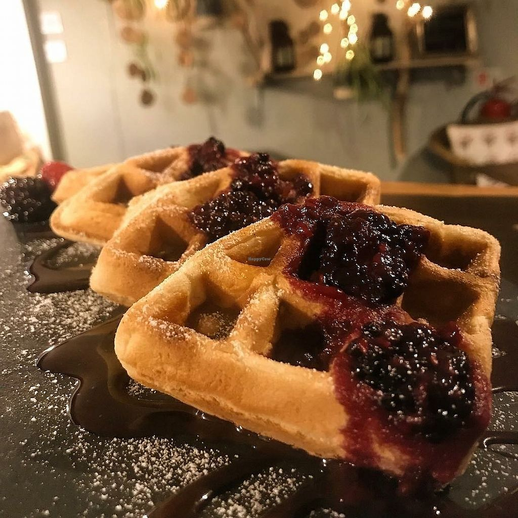 """Photo of Bonobo Cafe  by <a href=""""/members/profile/RachaelHope"""">RachaelHope</a> <br/>Waffles ? <br/> February 13, 2018  - <a href='/contact/abuse/image/71220/358648'>Report</a>"""