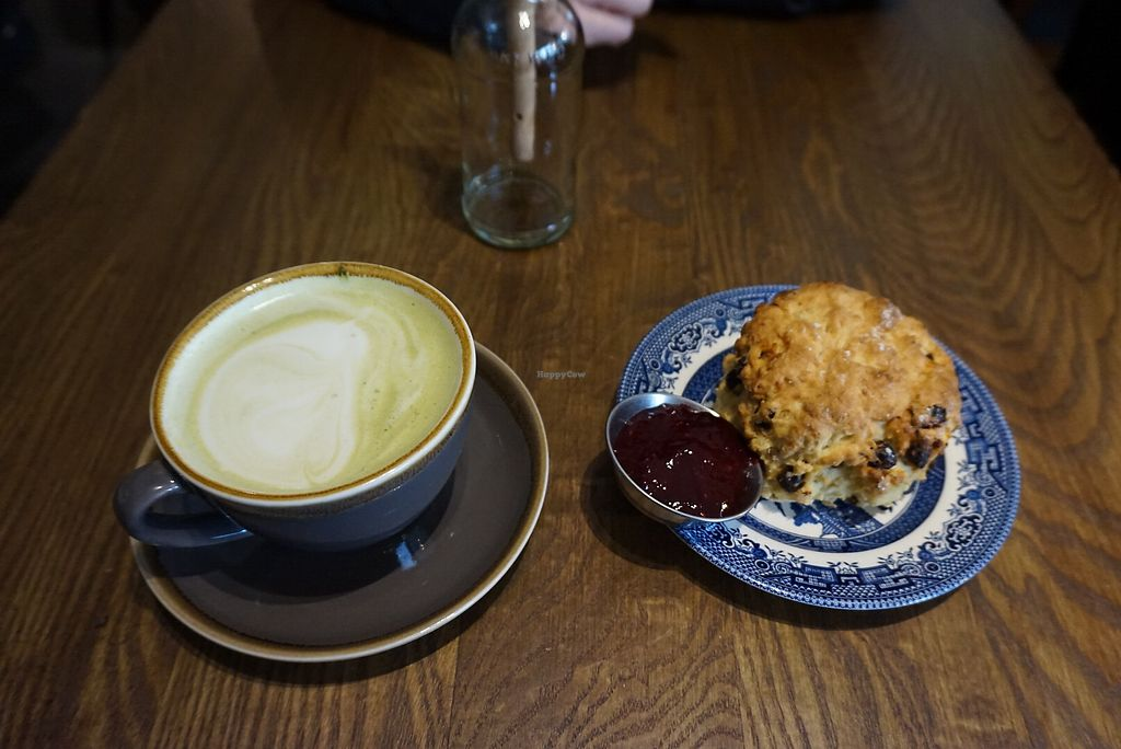 """Photo of Bonobo Cafe  by <a href=""""/members/profile/angdep"""">angdep</a> <br/>Matcha latte and scone <br/> February 25, 2018  - <a href='/contact/abuse/image/71220/363809'>Report</a>"""