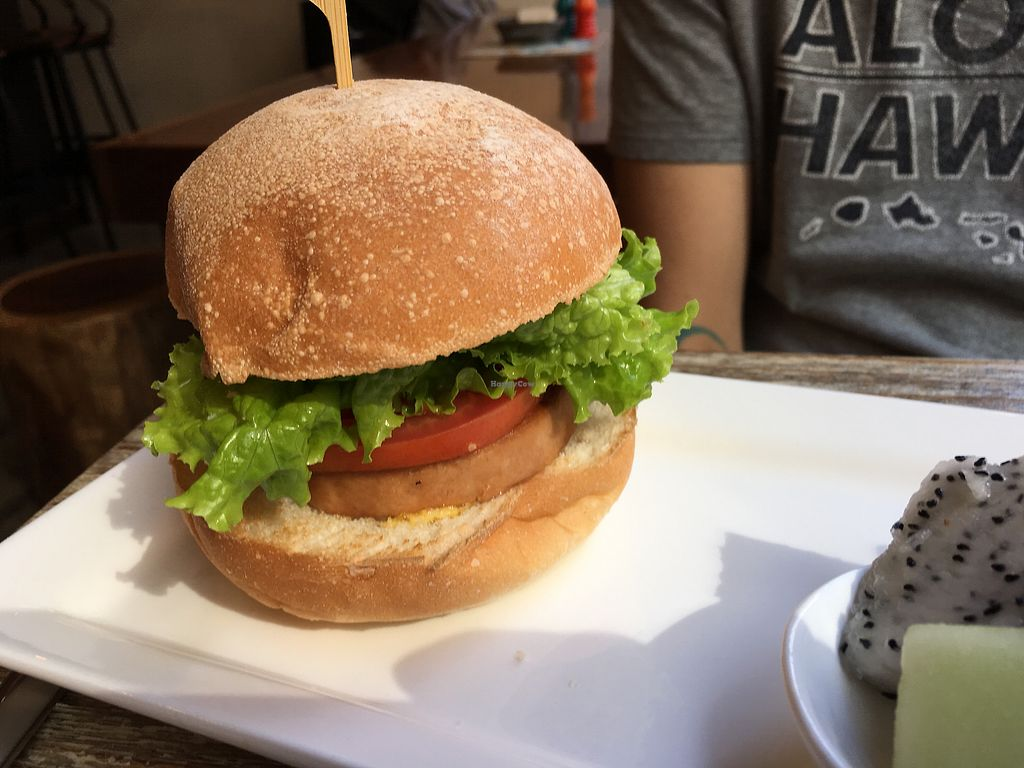 """Photo of LN Fortunate Coffee  by <a href=""""/members/profile/Veg4Jay"""">Veg4Jay</a> <br/>Vegan Ham Burger <br/> November 23, 2017  - <a href='/contact/abuse/image/71242/328255'>Report</a>"""